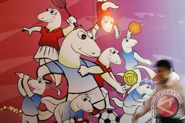 SEA Games mascots. (ANTARA/Fanny Octavianus)