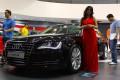 Audi A8, mobil mewah dari Audi yang ikut dipamerkan dalam pameran otomotif IIMS 2011, yang digelar di Jakarta Internasional Expo, Kemayoran, sejak tanggal 22-31 Agustus 2011.