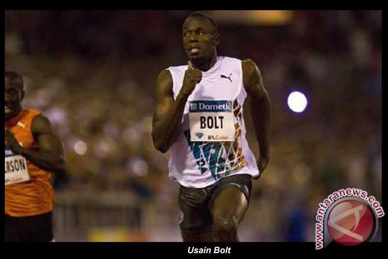 Bolt antar Tim Estafet Jamaika pecahkan rekor dunia