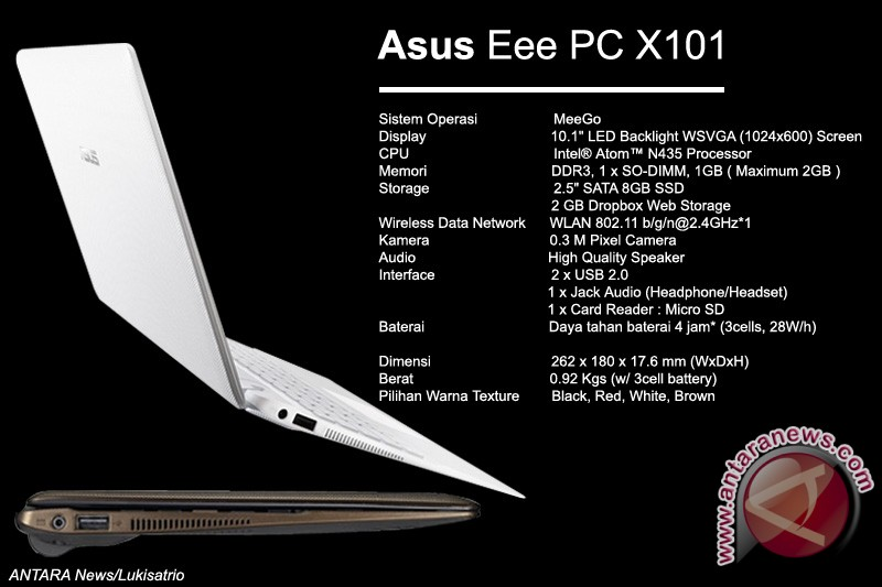 ASUS luncurkan laptop 10