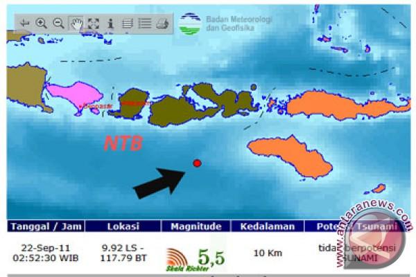 Gempa 5,6 SR guncang Lombok Tengah