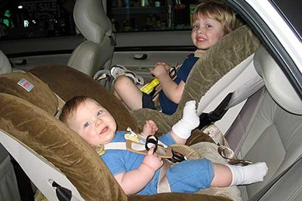 Posisi bayi di kendaraan