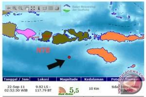 Gempa di Lombok Tengah tak berpotensi tsunami