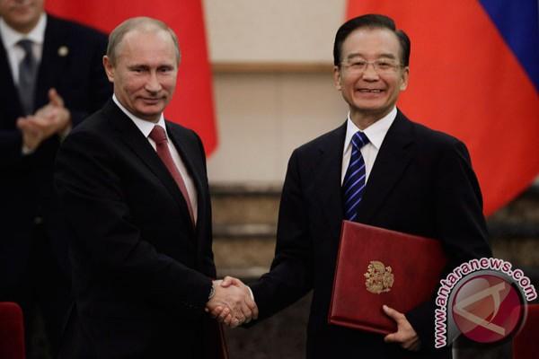 Rusia-China tandatangani sejumlah nota kerja sama
