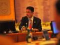 Dirjen Kerjasama Perdagangan Internasional Kementerian Perdagangan, Gusmardi Bustami, memimpin pertemuan ASEAN Senior Official's Preparatory Meeting (ASEAN SEOM) yang diikuti pejabat Senior Economic Official's Meeting (SEOM) ASEAN, di Bali International Convention Centre,Nusa Dua,Bali, Selasa (15/11). Pertemuan SEOM tersebut untuk membahas persiapan pertemuan tingkat menteri pada KTT ASEAN ke-19 dan KTT terkait lainnya. (FOTO ANTARA FOTO/ Wahyu Putro A)