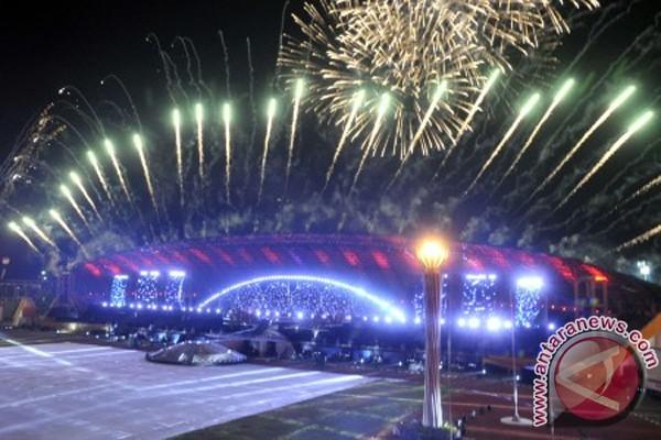 penutupan SEA Games XXVI di Stadion Sriwijaya, Jakabaring, Palembang