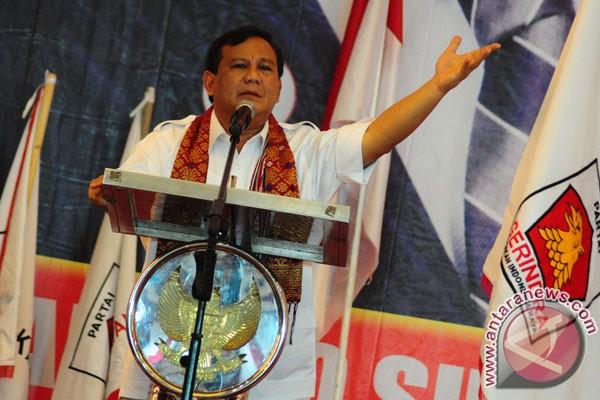 Prabowo Subianto hadir di deklarasi Cagub Sulsel