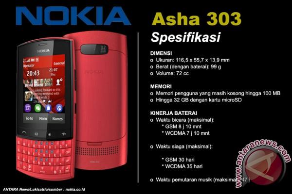 Nokia Asha 303 ponsel QWERTY rasa