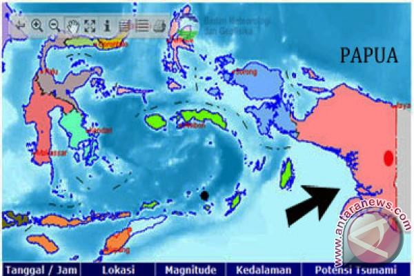 Gempa 5,7 SR terasakan di Manokwari
