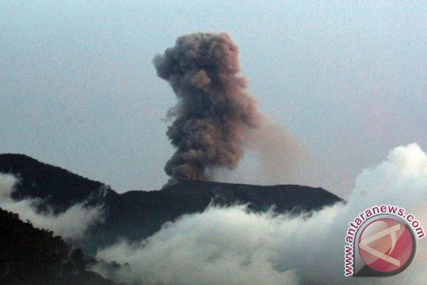 Mount Marapi spews volcanic ash twice on Sunday