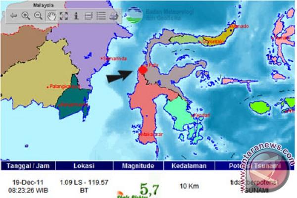 Gempa Guncang Kota Palu