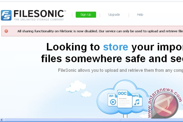 FileSonic hentikan layanan file sharing