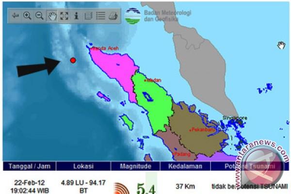 Gempa 5,5 SR guncang Aceh