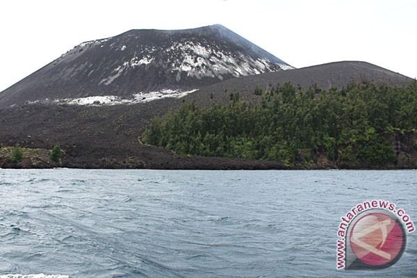 Kegempaan Gunung Anak Krakatau turun drastis