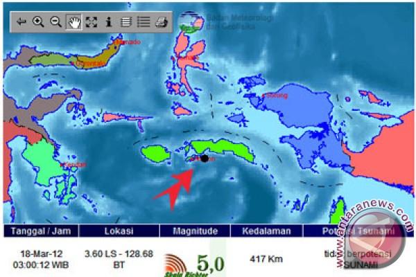 Gempa 5,6 SR guncang Maluku Tengah