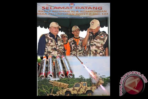 Roket buatan Indonesia ujicoba penembakan di Sumsel