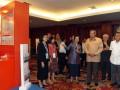 Presiden Susilo Bambang Yudhoyono (ketiga kanan) didampingi Wapres Boediono (kanan), Menko Perekonomian Hatta Rajasa (kedua kanan) dan Menteri PPN/Kepala Bappenas Armida Alisjahbana (keempat) mengunjungi sejumlah stan Pameran Perencanaan Pembangunan seusai meresmikan pembukaan Musyawarah Perencanaan Pembangunan Nasional (Musrenbangnas) Tahun 2012 di Jakarta, Kamis (26/4). Musrenbangnas yang dihadiri oleh unsur pimpinan lembaga negara, legislatif, menteri KIB II, gubernur, walikota, bupati se-Indonesia tersebut digelar dalam rangka penyusunan Rencana Kerja Pemerintah (RKP) tahun 2013. (FOTO ANTARA/Widodo S. Jusuf)