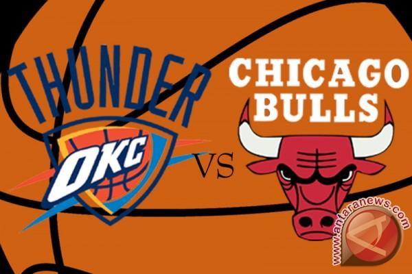 Thunder dominasi Bulls dan maju ke babak