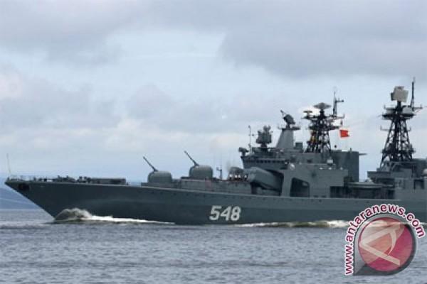 Kapal perang Rusia uji kemampuan pertahanan peluru kendali
