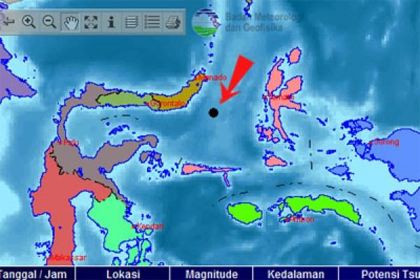 Gempa 5,2 SR guncang Sulawesi Utara
