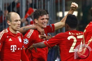 Bayern Muenchen bekuk Olympiakos 4-0 untuk lolos ke 16 besar