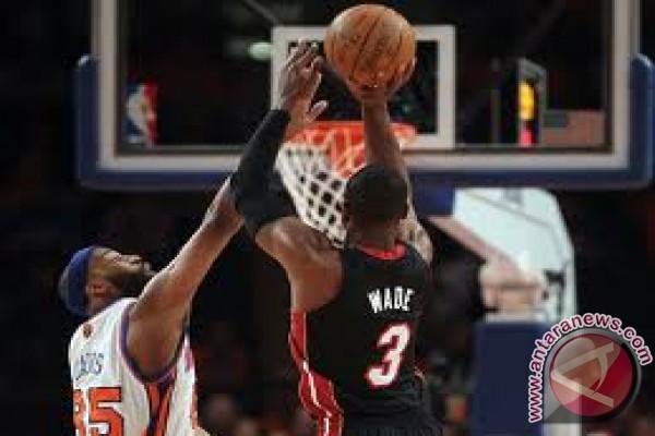 Heat unggul 2--0 atas Knicks pada