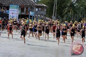 Babel gelar lomba Triathlon Sungailiat April