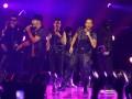 "Dua boyband dunia New Kids on the Block (NKOTB) dan Backstreet Boys (BSB) saat bersatu dalam satu panggung dalam konser NKOTBSB di Mata Elang Internasional Stadium, Ancol, Jakarta, Kamis, (1/6). Konser yang bertajuk ""NKOTBSB One Night One Stage"" ini menampilkan sejumlah hits yang mendunia seperti ""Step By Step"", Shape Of My Heart"" dan ""Tonight"", (FOTO ANTARA/Teresia May)"