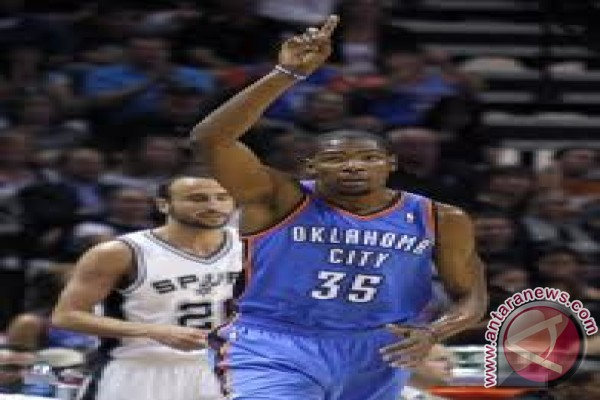 Thunder unggul 3-2 atas Spurs dalam final wilayah barat