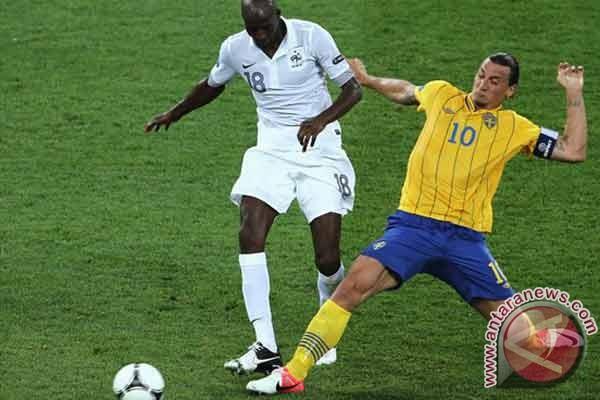 Ibrahimovic teror Prancis, Swedia unggul 1-0