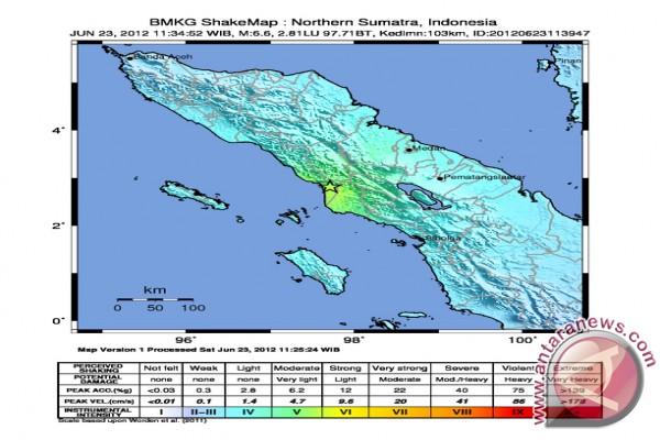 Gempa 6,6 SR guncang Aceh