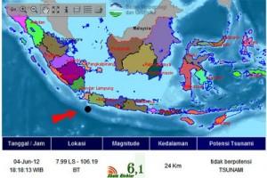 Kabupaten Garut terdapat jalur gempa