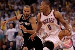 Playoff NBA - Thunder tahan Spurs 1-1 pada semifinal wilayah