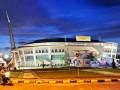PEKANBARU, 13/7 - GELANGGANG PON XVIII RIAU. Gelanggang Remaja Pekanbaru yang akan digunakan sebagai salah satu arena pertandingan pada Pekan Olahraga Nasional XVIII/2012 di Riau, Jumat (13/7). Di arena tersebut akan dipergunakan untuk pertandingan cabang buku tangkis pada PON XVIII September 2012 mendatang. (ANTARA/Yudhi Mahatma)