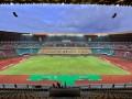Suasana Stadion Utama Riau, Pekanbaru, Riau, Minggu (15/7). Stadion tersebut merupakan salah satu arena yang akan digunakan pada penyelenggaraan Pekan Olahraga Nasional XVIII/2012 pada September mendatang. (ANTARA/Yudhi Mahatma)
