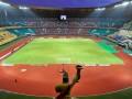 Suasana Stadion Utama Riau, Pekanbaru, Riau, Minggu (15/7). Stadion tersebut merupakan salah satu arena yang akan digunakan pada penyelenggaraan Pekan Olahraga Nasional XVIII/2012 pada September mendatang.(ANTARA/Yudhi Mahatma)
