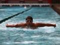 Perenang Indonesia I Gede Siman Sidartawa berlatih di kolam renang Hotel F1 Cikini, Jakarta (18/7). Siman merupakan satu-satunya perenang Indonesia yang berlaga di Olympiade London 2012.(FOTO ANTARA/Nino Halen)