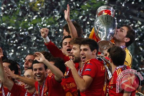 Raja Spanyol sambut pahlawan Piala Eropa 2012