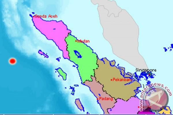 Gempa 5,2 SR guncang barat daya Simeulue