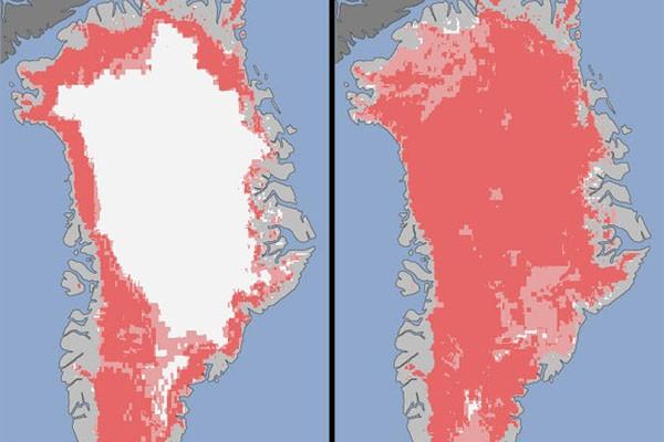 Satelit ungkap pencairan es tak terduga di Greenland
