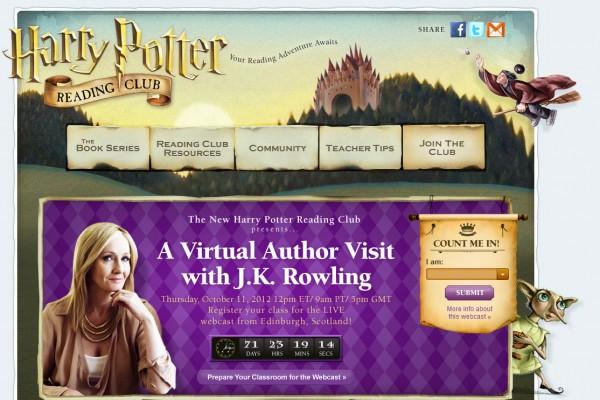 J.K Rowling luncurkan klub buku online