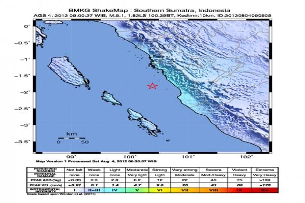 Gempa 5,5 SR guncang Sumbar