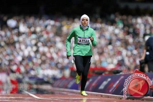 Debut perempuan berjilbab di lintasan atletik Olimpiade