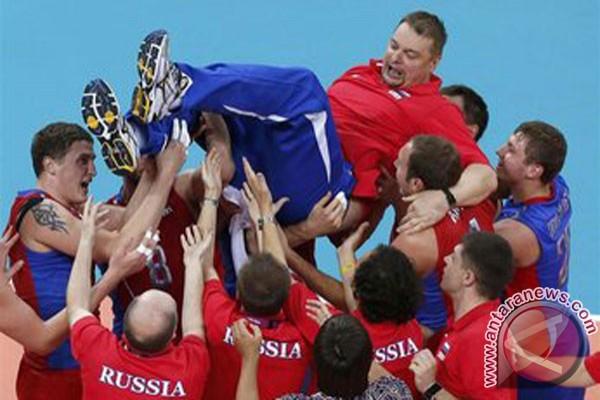 Kalahkan Brazil, Rusia rebut emas bola voli