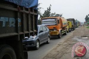 Arus balik masih ramai di Jalan Lintas Timur Lampung