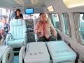 Joko Trisanyoto, Marketing Director Toyota Astra Motor, memasarkan kendaraan minibus, New Hiace di Indonesia, pada ajang Indonesia International Motor Show (IIMS) 2012. (ANTARANEWS/Suryanto).