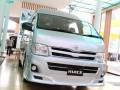 Toyota Hiace merupakan kendaraan komersial ringan dengan kapasitas mesin 2.500 cc. Kendaraan itu pertama kali diproduksi dan diluncurkan di Jepang pada 1967 dan kini memasuki generasi kelima. (ANTARANEWS/Imansyah)
