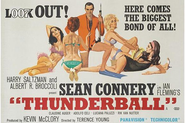 Poster James Bond  dari masa ke masa