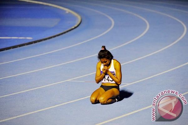 Serafi buktikan kemampuannya pada nomor 100 meter putri