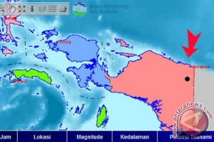 Gempa 5,6 SR guncang Papua